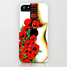 Poppy on my Guitar iPhone Case