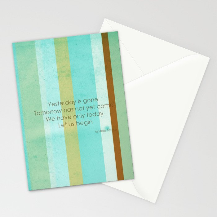 Carpe Diem Serie - Mother Teresa #inspirational Stationery Cards