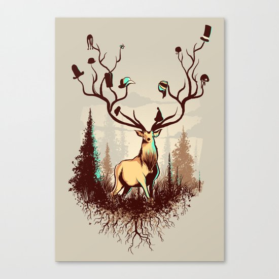 A Rustic Hat Rack Canvas Print