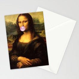 Mona Lisa Bubble Gum Stationery Cards