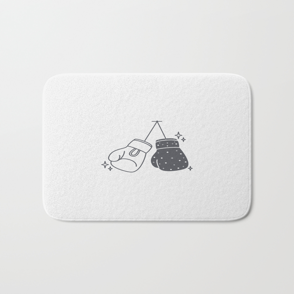 Boxing Gloves Night And Day Bath Mat by Roc21 BMT8557888