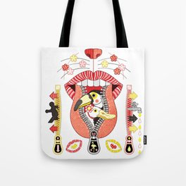 Mouth zipper exit and entrance (remake) Tote Bag