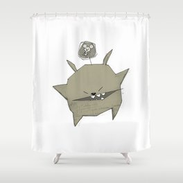 minima - rawr 04 Shower Curtain