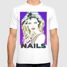 Nails Mens Fitted Tee White MEDIUM