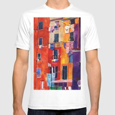 Portovenere 2X-LARGE Mens Fitted Tee White