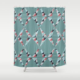 Modern Triangles  Shower Curtain