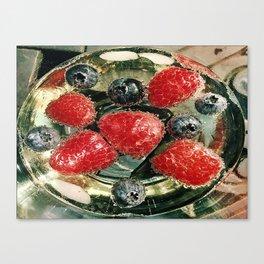 Bubbles N Berries Canvas Print