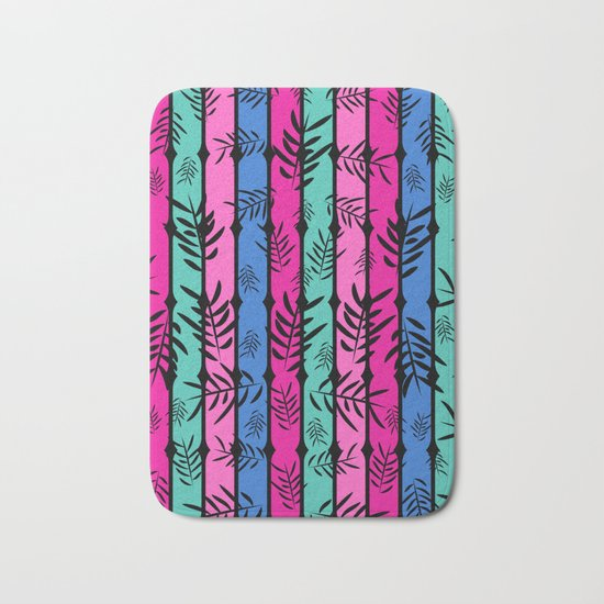 Fall over colorful stripes Bath Mat
