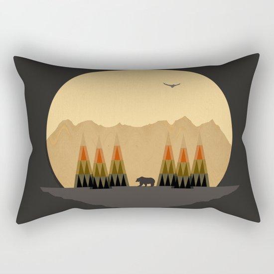 The Bear Versus the Mountain Rectangular Pillow