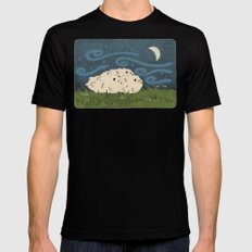 Three Sheeps to the Wind Black Mens Fitted Tee MEDIUM