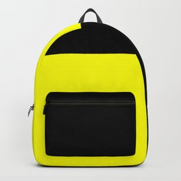 Bright Fluorescent Yellow Neon & Black Checked Checkerboard Backpack