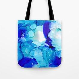 Blue Aqua Tote Bag