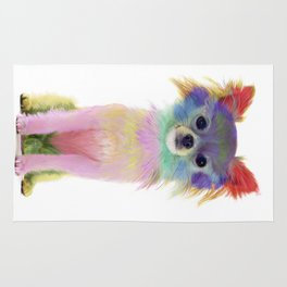 Colorful Chihuahua Rug