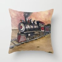 southwest Throw Pillows featuring Southwest Journey by Jeff Moser Watercolorist