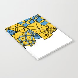 blue and yellow tapa Notebook