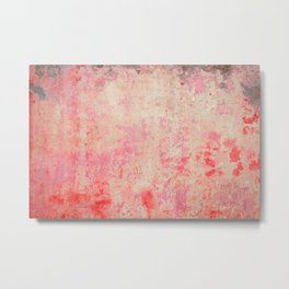 abstract vintage wall texture - red retro style background Metal Print