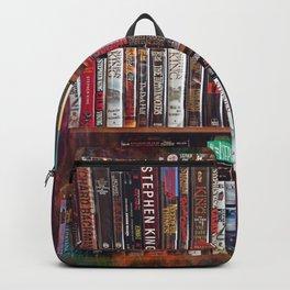 Stephen King Books on Shelves Backpack