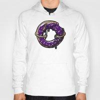 doughnut Hoodies featuring Hurtz Doughnut by Jonah Makes Artstuff