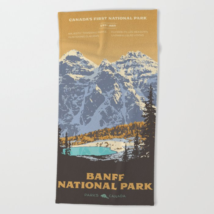 Banff National Park Beach Towel