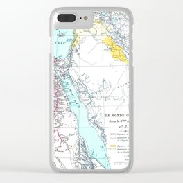 Oriental Map Clear iPhone Case