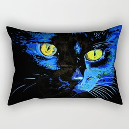 Marley The Cat Portrait With Striking Yellow Eyes Rectangular Pillow