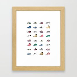 Kicks Framed Art Print