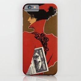 Golden Prague art nouveau iPhone Case