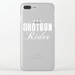 Shotgun Rider Graphic Star T-shirt Clear iPhone Case