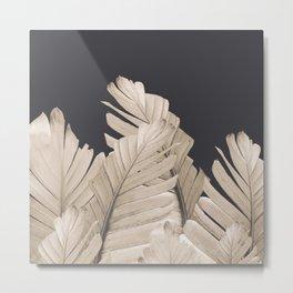 Sepia Banana Leaves Dream #3 #foliage #decor #art #society6 Metal Print