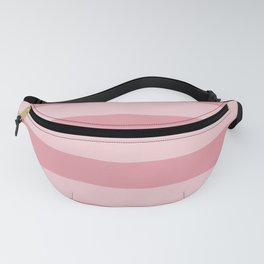 Dusty Pink Daisy Wide Cabana Stripes Fanny Pack