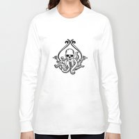 cthulhu Long Sleeve T-shirts featuring Cthulhu by MyOwlHasAntlers