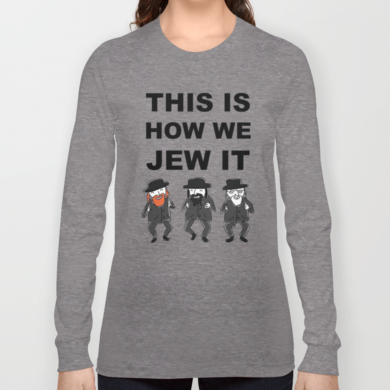435390cb0a Funny Jewish Shirt | Hanukkah Shirt | Hebrew Shirt T-Shirts Long Sleeve T- shirt by hiepk99 | Society6