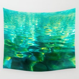 Blue Green Water Wall Tapestry