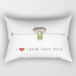 I love coffee boy Rectangular Pillow