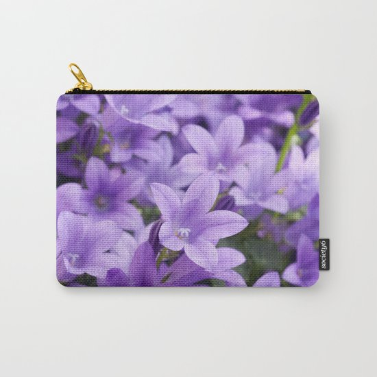 DREAMY - Purple flowers - Bellflower in the sun #1 Carry-All Pouch