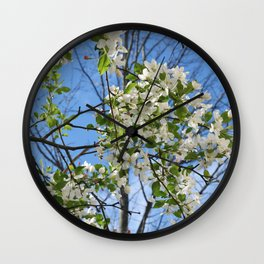 Crabapple Flowers 04 Wall Clock