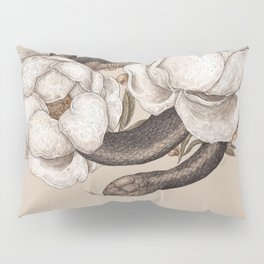 Snake and Peonies Pillow Sham