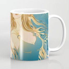 Golden Teal Woman Coffee Mug