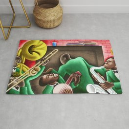 African American Masterpiece 'Harlem Renaissance' by Miguel Covarrubius Rug