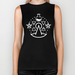 Witchy Business ~ White Biker Tank