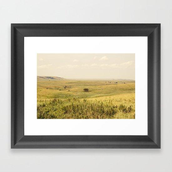 Western Valley Framed Art Print