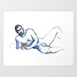ANDRE, Nude Male by Frank-Joseph Art Print