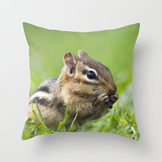 Cute Throw Pillow Society6 : Cute Chipmunk Throw Pillow by Christina Rollo Society6