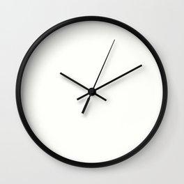 Baby Powder - solid color Wall Clock