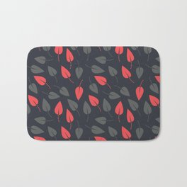 Dotted leaves Bath Mat