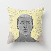 kobe Throw Pillows featuring 101 by Opareon