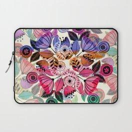 Pink and indigo flower pattern Laptop Sleeve