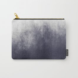 Grey Blue Ombre Abstract Carry-All Pouch