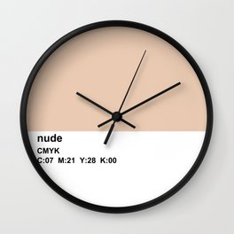 pantone, nude, CMYK colorblock Wall Clock