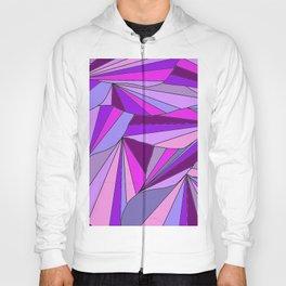 Purple triangle pattern Hoody